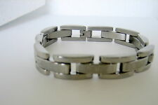 Men's Shinny  Stainless Steel  Bracelet with Greek Key Design 9 inches Long