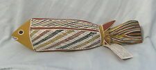 #AA10.  CORROBOREE ABORIGINAL ARTS WOODEN FISH CAMP CARVING WITH CERTIFICATE