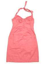 NWT Jack BB Dakota button front halter dress in Coral Pink stretch cotton sz S