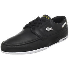 Lacoste Dreyfus AP Mens Sport Casual Leather Boat SHOES Black/Gold Size 7 - 12