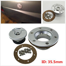 Silver Billet Aluminum Aircraft Style Fuel Cell Gas Cap with 6 Hole Anodized Car