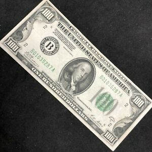 """1928-A $100 FEDERAL RESERVE NOTE """"GOLD ON DEMAND"""" NEW YORK F-2150B   #98J"""