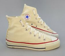Original 1970s Vintage Whtie Converse All Star Chuck Taylor High Top Sneakers