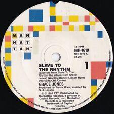 Grace Jones ORIG OZ 45 Slave to the rhythm VG+ '85 Manhattan R&B Dance Rock