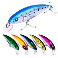 5PCS Sea Fishing Big Minnow Fish Bass plastic lure hook baits 16cm/43g