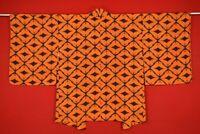 Vintage Japanese Kimono Silk Antique BORO HAORI Kusakizome Dyde/XX69/630
