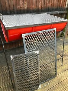 HEAVY DUTY CUSTOM MADE MILD STEEL # CAMPING BBQ BARBEQUE JERK GRILL GRATE PAN .