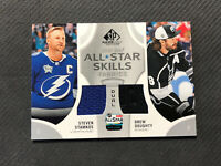 2019-20 SP GAME USED STAMKOS/DOUGHTY ALL-STAR SKILLS FABRICS DUAL JERSEY #AS2-SD