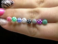 Checkerboard toungue body jewelry piercings fashion