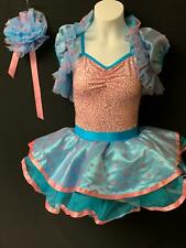 New! Gorgeous Sequined Polka Dots Dance Ballet Tutu Costume ~ Large Child