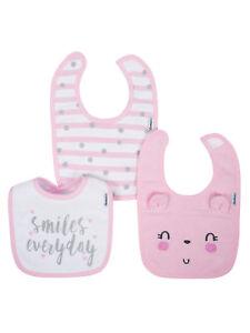 Gerber Baby Girl's 3 Pack Organic Bibs NEW Adorable