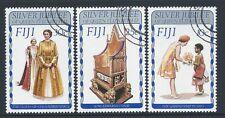1977 FIJI QEII SILVER JUBILEE SET OF 3 FINE USED/CTO