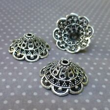 Antique Silver Bead Caps - Pack of 10