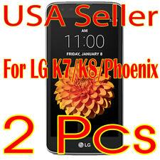 2x New LG K7/K8/Phoenix HD Clear Screen Protector Guard Shield Film Saver