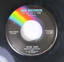 Rock 45 Elton John - One Day At A Time / Lucy In The Sky With Diamonds On Mca  9
