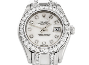 Rolex Datejust Pearlmaster 29mm. MOP White Gold 18k Lady Watch Box & Papers 1999