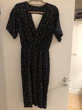 Vintage Black Cocktail Dress Size UK 12