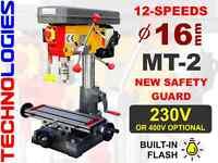 MILLING DRILLING MACHINE 16 MM MT2 / 230V OR 400V / NEW!