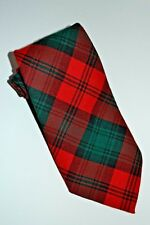 Authentic Original Scottish Tartan Kerr Clan circa 1357 Pure Wool Tie Scotland