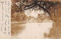 C13/ Franklin New York NY Real Photo RPPC Postcard 1907 River Scene
