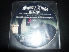 Snoop Dogg Ft Justin Timberlake Signs Promo Picture Disc CD Single