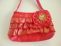Disney store Tinkerbell pink glam pretty bag purse plush disney