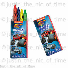 BLAZE & THE MONSTER MACHINES Boys Birthday Party Bag Fillers CRAYONS x12