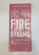 2013 Chicago Fire MLS Soccer Matchday Program Logan Pause v Houston Dynamo