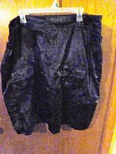Woman's O.N.L.Y. Jeans Co. Black Knee Length Skirt Size 20 Shiny Satin Looking