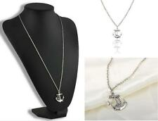 Vintage Retro Silver Plated Anchor Alloy Chain Pendant Necklace Charm Jewelry E7