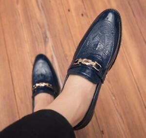 Mens slip on Loafers Dress Pointy Toe Casual Formal Wedding Business New