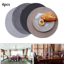 Jacquard Beaded Weaved Non Slip Placemats Round Dining Table Mats Heat Resistant