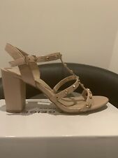 Kurt Geiger Beige Stud High Heel Sandals.  Size 6