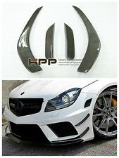 12-16 W204 C63 Sports Black Series Front Bumper Canard Splitter Carbon Fiber CF