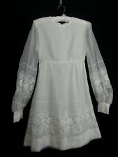 "Girl Child Handmade White Dress Flower Formal Wedding Chest 30"" Waist 26"" L?"