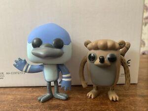 Funko Pop! Regular Show Mordecai And Rigby Figures 2013 - No Box Cartoon Network