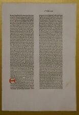 Original Blatt aus der KOBERGER BIBEL 1475, Nürnberg, rubriziert Inkunabel 9