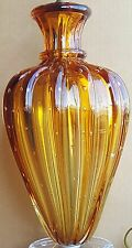 Vintage Murano Lamp Italy Glass Amber