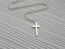 silver cross necklace simple jewellery necklace gift for women accessories cross