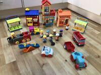 Happyland BIG Bundle, Tracks, Buildings, Vehicles And Figures ELC