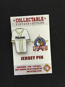 Negro League lapel pin-Satchel Paige & Josh Gibson played 4 Pittsburgh Crawfords
