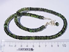 New listing 137 carats checkered cut beads (6.5 x 2.5mm) Moldavite necklace 18 inches