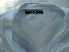 WOMEN'S POLVERE BLU SISLEY Cardigan Sweater Maglione 100% COTONE MADE IN ITALY