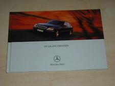 48747) Mercedes S-Klasse W220 Hardcover Prospekt 01/2001