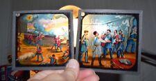 Full Set of 12 Antique Color Glass Magic Lantern Slides Battle Scenes Military