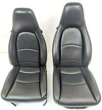 Paar Porsche 993 & 968 Vorne Leder Sitze - Elektrisch Verstellung Schwarz