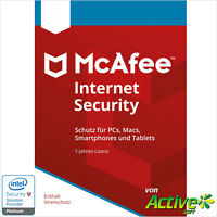 McAfee Internet Security 2018 Unlimited | Alle Ihre Geräte /PC,Mac,Android/ 1J