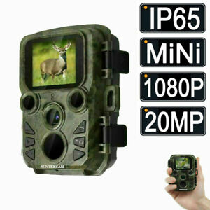 SUNTEK Mini Hunting Trail Camera Wildlife 20MP 1080P Scouting Cam Night Vision