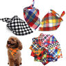 Cotton Bandana Grid Dog Pet Cat Collars Neck Scarf Neckerchief Puppy Supplies