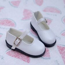 """White Flats Shoes Synthetic Leather For 1/6 11""""  BJD YOSD DK DD DZ DOLL"""